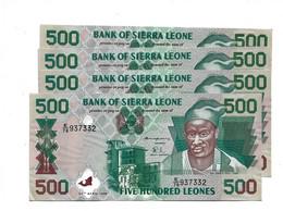 LOT 4 PIECES - SIERRA LEONE 500 LEONES AUNC - Sierra Leone