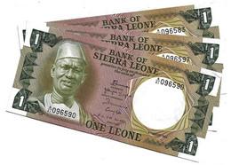 LOT 3 PIECES - SIERRA LEONE 1 LEONES AUNC - Sierra Leone