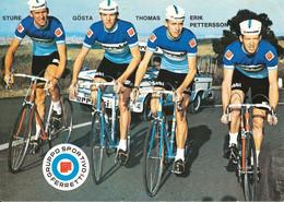 CARTE CYCLISME 4 FRERES PETTERSSON TEAM FERRETTI 1971 ( FORMAT 15 X 21 ) - Cycling