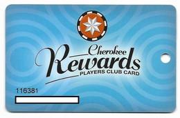 Cherokee Casino, Roland, OK,  U.S.A., Older Used Slot Or Player's Card, # Cherokee-1 - Cartes De Casino