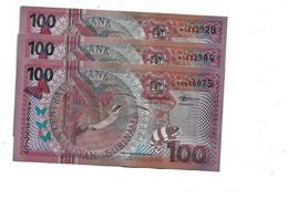 LOT 3 PCS - SURINAME 100 GULDEN 2000. UNC - Vanuatu
