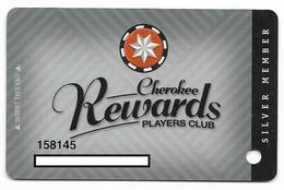 Cherokee Casino, Roland, OK,  U.S.A., Older Used Slot Or Player's Card, # Cherokee-2 - Cartes De Casino