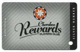 Cherokee Casino, Roland, OK,  U.S.A., Older BLANK Used Slot Or Player's Card, # Cherokee-2blank - Cartes De Casino