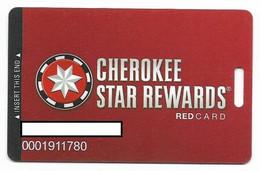 Cherokee Casino, Roland, OK,  U.S.A., Older Used Slot Or Player's Card, # Cherokee-3 - Cartes De Casino