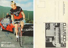 CARTE CYCLISME FABRIZIO FABBRI SIGNEE TEAM COSSATTO 1971 - Cycling
