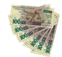 LOT 6 PCS - BRASIL 100 000 CRUZEIROS AUNC - Paraguay