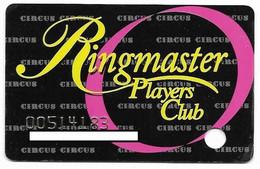 Circus Circus Casino, Las Vegas, NV,  U.S.A., Older Used Slot Or Player's Card, # Circus-1 - Cartes De Casino