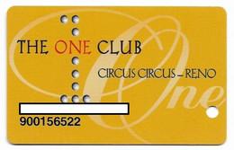 Circus Circus Casino, Reno, NV,  U.S.A., Older Used Slot Or Player's Card, # Circus-2 - Cartes De Casino