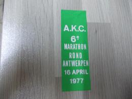 Lintje Uit Nylonlint A.K.C. 6e Marathon Rond Antwerpen 1977 - Altri