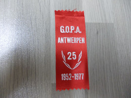 Lintje Uit Satijnlint G.O.P.A. Antwerpen 25 Jaar - 1952-1977 - Altri