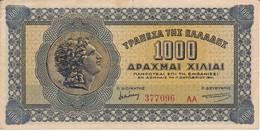 BILLETE DE GRECIA DE 1000 DRACMAS DEL AÑO 1941 (BANK NOTE) - Greece
