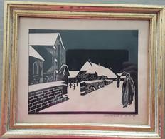 Boerin, Kerk En Kerkhof Door K. Pauwels, 11-11-1934 - Dibujos
