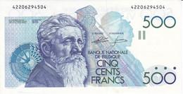 BILLETE DE BELGICA DE 500 FRANCS DEL AÑO 1986 SIN CIRCULAR (BANKNOTE) UNCIRCULATED - 500 Francs
