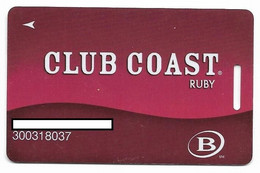 Coast Casinos, Nevada, U.S.A.,  Older Used Slot Or Player's Card, # Coast-1 - Cartes De Casino