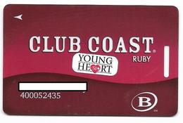 Coast Casinos, Nevada, U.S.A.,  Older Used Slot Or Player's Card, # Coast-2 - Cartes De Casino