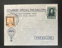 Belgique 1953 Courrier Spécial Par Ballon - Souvenir Cards