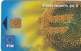 FINLAND - Euro, Flower, Fin Telecard 20 Euro, Tirage 10000, 02/02, Used - Finland