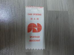 Lintje Uit Satijnlint Brasschaat OMNI SPORTDAG SPORTRAAD 1982 - Altri