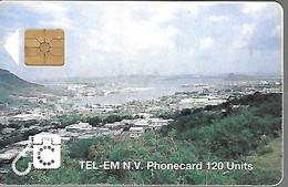 CARTE-PUCE-St MARTEEN-GEM A-120U-NAF 29,60/16,75$-PAYSAGE MARIN-BE-RARE - Antilles (Netherlands)