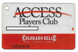 Colorado Belle Casino, Laughlin, NV,  U.S.A., Older Used Slot Or Player's Card, # Coloradob-2 - Cartes De Casino