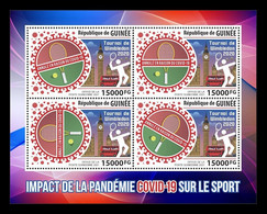 Guinea 2021 Mih. 15254/57 COVID-19 Stops Sports. Wimbledon Tennis Tournament Canceled MNH ** - Guinée (1958-...)