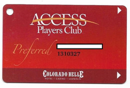 Colorado Belle Casino, Laughlin, NV,  U.S.A., Older Used Slot Or Player's Card, # Coloradob-3 - Cartes De Casino