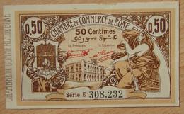 BÔNE ( Algérie - France ) 50 Centimes Chambre De Commerce 5 Janvier 1921 Série E - Chambre De Commerce