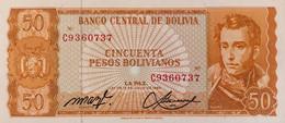 Bolivia 50 Pesos Bolivianos, P-162 (L.1962) - UNC - Signature Variety - Bolivia