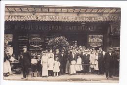 Lot 3 Cartes Photo - Vues Diverses Café Billard - Mr Paul DAUGERON ( Pourraient Se Situer En Haute-Vienne Ou Creuse!!!!! - Photos