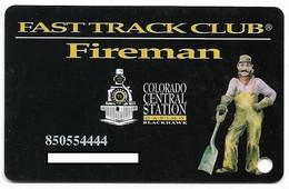 Colorado Central Station Casino, Black Hawk, CO, U.S.A., Older Used Slot Card, U.S.A., # Centralstation-2 - Cartes De Casino