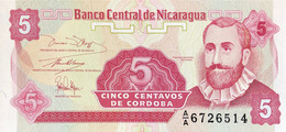 Nicaragua 5 Centavos, P-168 (1991) - UNC - Nicaragua