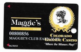 Colorado Grande Casino, Cripple Creek, CO, U.S.A., Older Used Slot Card, U.S.A., # Coloradogrande-1 - Cartes De Casino