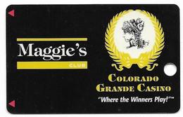 Colorado Grande Casino, Cripple Creek, CO, U.S.A., Older Used BLANK Slot Card, U.S.A., # Coloradogrande-1 - Cartes De Casino