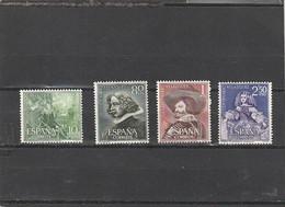 ///   ESPAGNE ///  Série - N°  1017 /1020 EN BLOC    ** Neufs Unused Côte 25€ - 1961-70 Unused Stamps