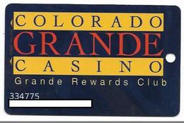 Colorado Grande Casino, Cripple Creek, CO, U.S.A., Older Used Slot Card, U.S.A., # Coloradogrande-2 - Cartes De Casino