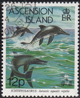 Ascension 1994 Used Sc #580 12p Ichthyosaurus Hong Kong 94 Emblem - Ascension (Ile De L')