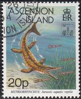 Ascension 1994 Used Sc #581 20p Metriorhynchus Hong Kong 94 Emblem - Ascension (Ile De L')