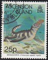 Ascension 1994 Used Sc #582 25p Mosasaurus Hong Kong 94 Emblem - Ascension (Ile De L')