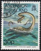 Ascension 1994 Used Sc #583 30p Elasmosaurus Hong Kong 94 Emblem - Ascension (Ile De L')