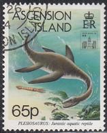 Ascension 1994 Used Sc #584 65p Plesiosaurus Hong Kong 94 Emblem - Ascension (Ile De L')