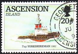 Ascension 1994 Used Sc #590 20p Tugboat Yorkshiremen - Ascension (Ile De L')