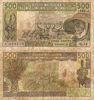 Ivory Coast / 500 Francs / 1986 / P-106A(j) / VF - Côte D'Ivoire