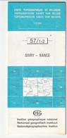 Carte Topographique De Belgique 1:25000  - 57/ 1-2 SIVRY - RANCE  - Relevé 1970-1984 - Topographical Maps