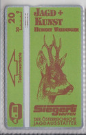 AUSTRIA 1992 SIEGERT JAGD+KUNST HUBERT WEIDINGER DEER - Austria