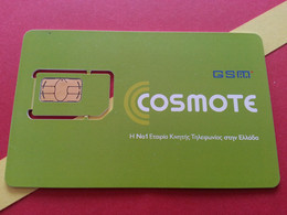 GRECE SIM GSM Cosmote - With Numbers USIM RARE MINT (BH1219b5 - Greece