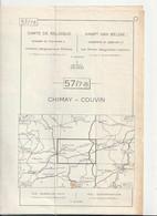 Carte Topographique De Belgique 1:25000  - 57/ 7 - 8     CHIMAY -  COUVIN   - Relevé 1970 - Topographical Maps