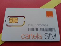 SIM GSM ORANGE Cartela SIM - With Numbers USIM RARE MINT (BH1219b5 - Romania