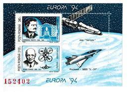ROMANIA FOGLIETTO EUROPA 1994 NUOVO MNH** - Blocks & Kleinbögen