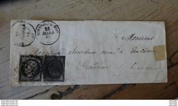 Enveloppe Avec Paire 20c Ceres MONTOIRE Pour VENDOME 26 Mars 1849 - 1849-1876: Classic Period