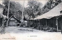 R!!! KAMPOONG Kambodscha  P.Mourges, Djocja En Semarang, Seltene Alte Karte Um 1905 ... - Cambodia
